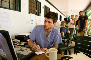 A Tufts medical student in Milot, Haiti